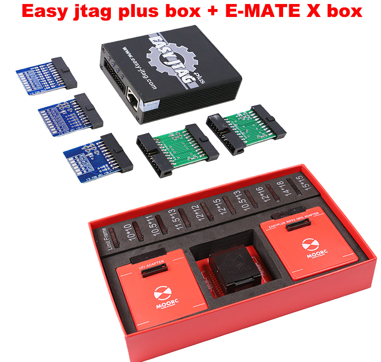 Oityn Easy jtag plus <font><b>box</b></font> with Emate <font><b>box</b></font> <font><b>E</b></font>-<font><b>mate</b></font> X EMMC BGA 13 IN 1 set image
