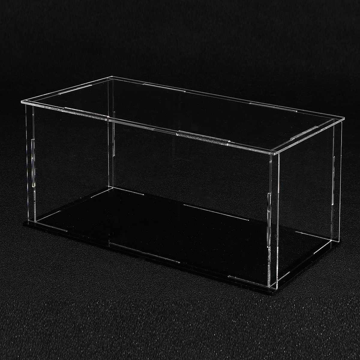 Transparent  Acrylic Assembly Display Dustproof Case Tray Storage Show Box 20X10X10CM