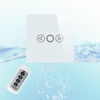 EU Standard Touch Dimmer Switch Wireless Remote Control Dimmer Light Switch Crystal Glass Panel With LED