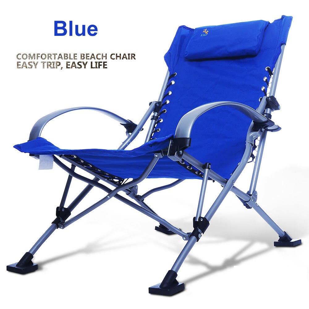 aliexpresscom comprar sillas de playa silla de pesca porttil plegable silla plegable de aluminio sillas al aire libre de 4 colores de carga 300 kg