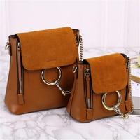Luxury Brand Designed Nubuck Backpack Circle Ring School bag genuine Leather Women Backpack Scrub Leather Chain shoulder bag hot