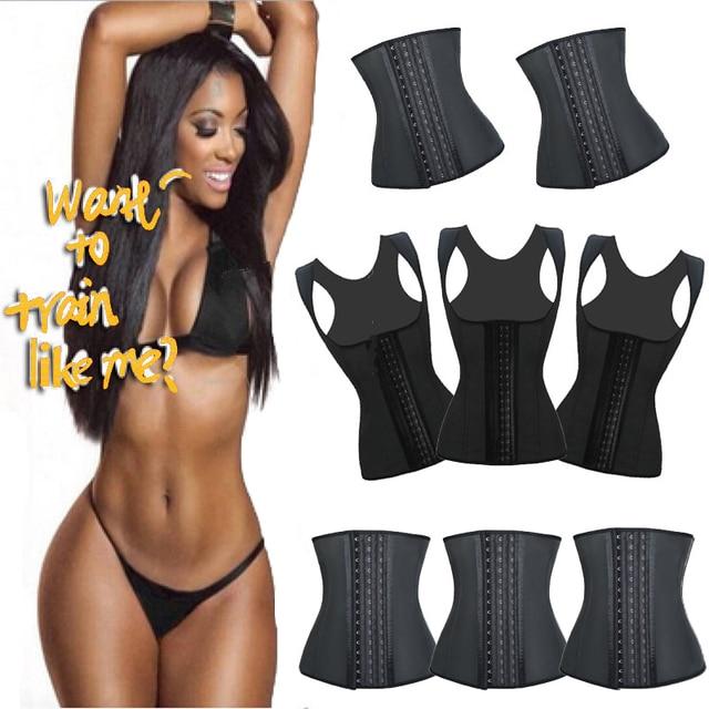 b823dc31de3 Girl Melody 9 Steel Bone Waist Cincher Corset Latex Waist Trainer Hot Waist  Shaper Slimming Belt