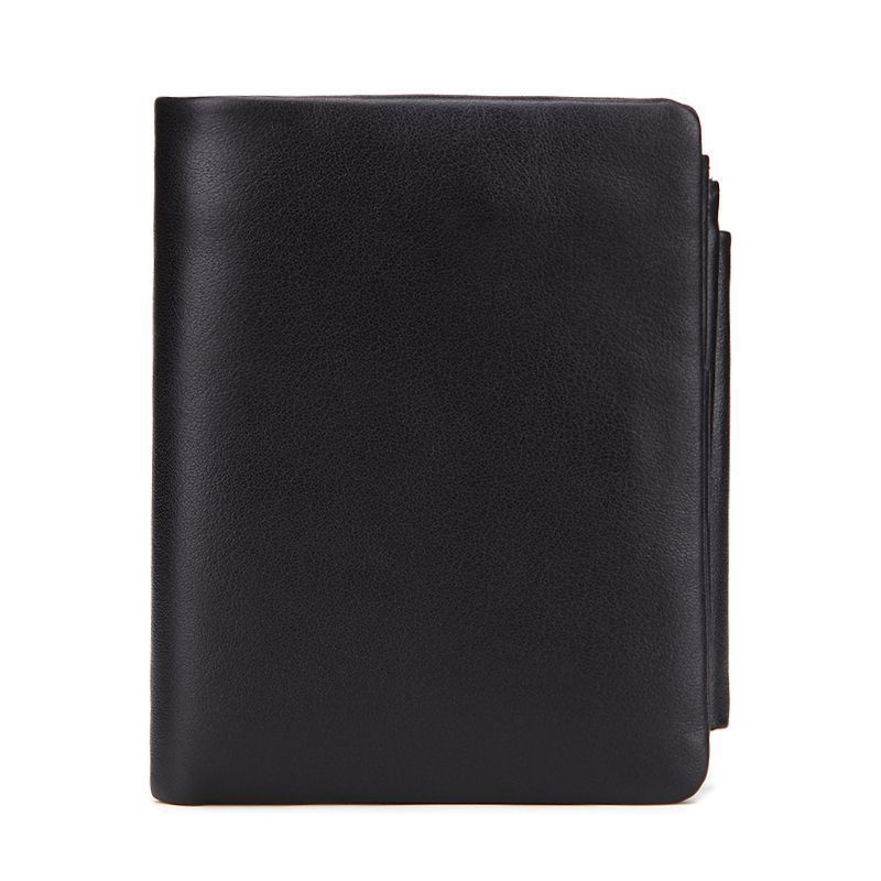 La MaxZa Genuine Crazy Horse Leather Men Wallets Vintage Trifold Wallet Zip Coin Pocket Purse Cowhide Leather Wallet For Mens