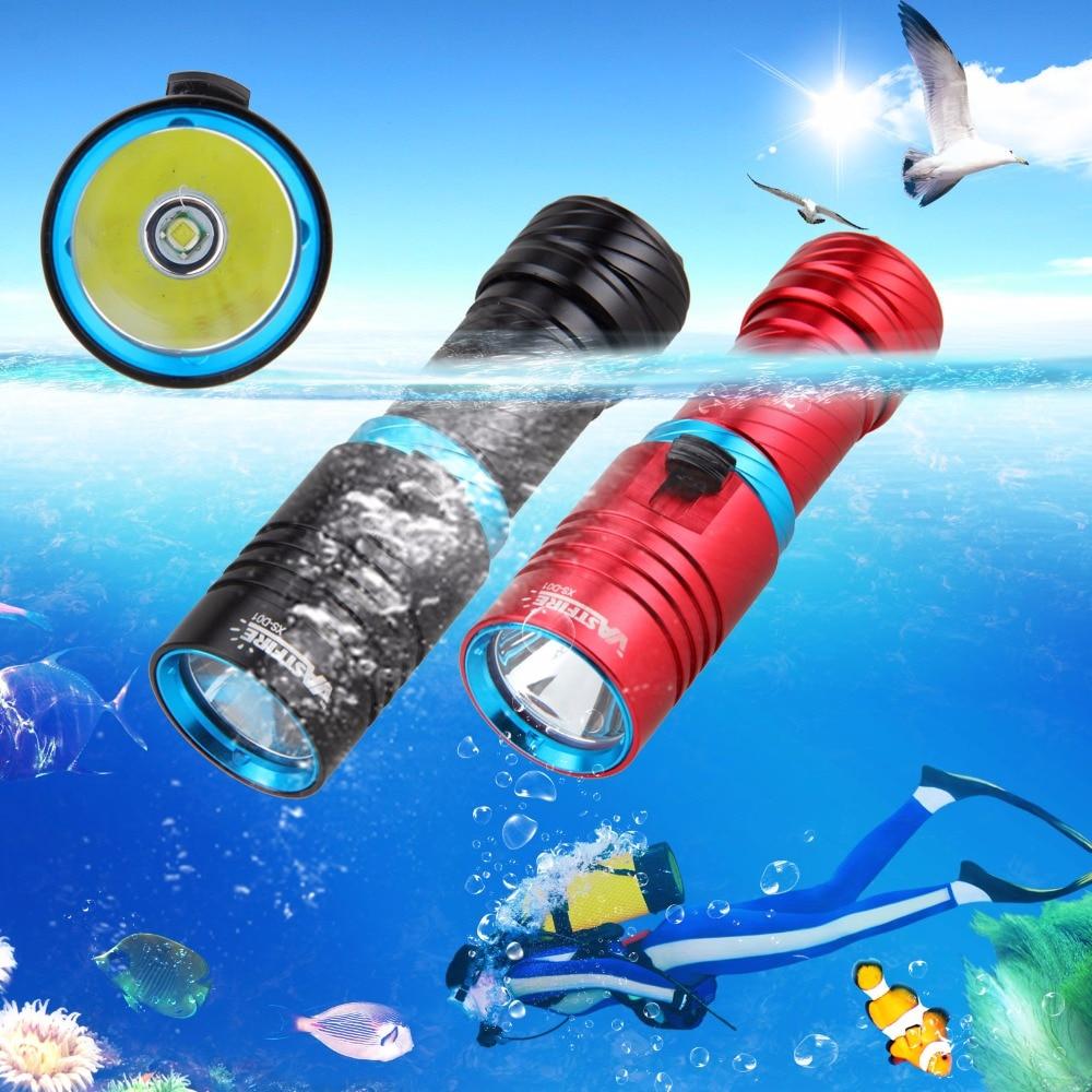 Tactcial Vattentät Scuba Diving ficklampa Torch 1000 LM XM-L T6 LED - Bärbar belysning