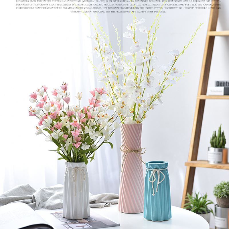 225 & US $18.22 8% OFF|European ceramic vase simple living room decoration TV cabinet ornaments dried flowers artificial flower vase wedding decoration-in ...