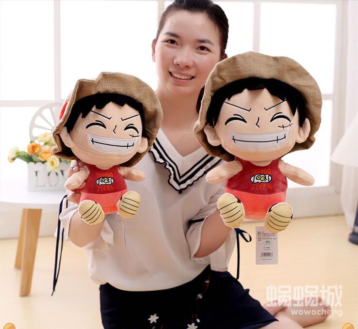 1pc 30cm 45cm Cartoon One Piece Monkey D Luffy Plush Doll Stuffed Toy Kids Girl Boy Infant Creative Festival Gift