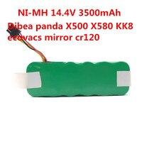 NI MH 14 4V 3500mAh Vacuum Cleaner Battery For Ecovacs Mirror CR120 Vacuum Cleaner Dibea Panda