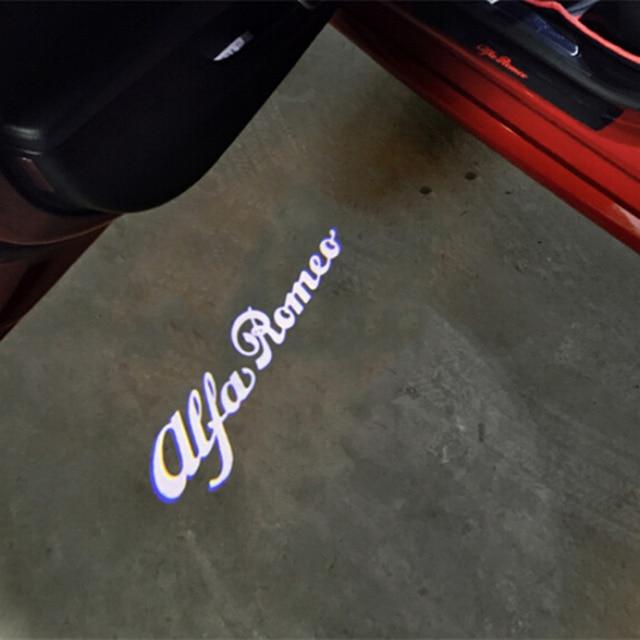 2 LED Logo Light Shadow Projector Car Door Courtesy Laser fit for Alfa Romeo 147 159 156 Giulia Stelvio Car-styling
