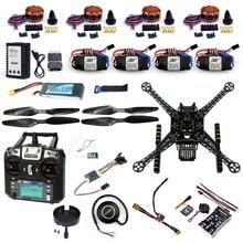 DIY RC Drone Full Kit Quadcopter S600 Frame PIX 2.4.8 Flight Control Buzzer Alarm FS-i6 TX Motor GPS Battery Charger F19457-E