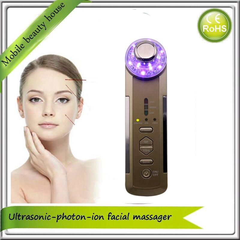 Здесь можно купить  4 in 1 Galvanic Ion Ultrasonic Photon Vibration Facial Beauty Massager Machine    Красота и здоровье
