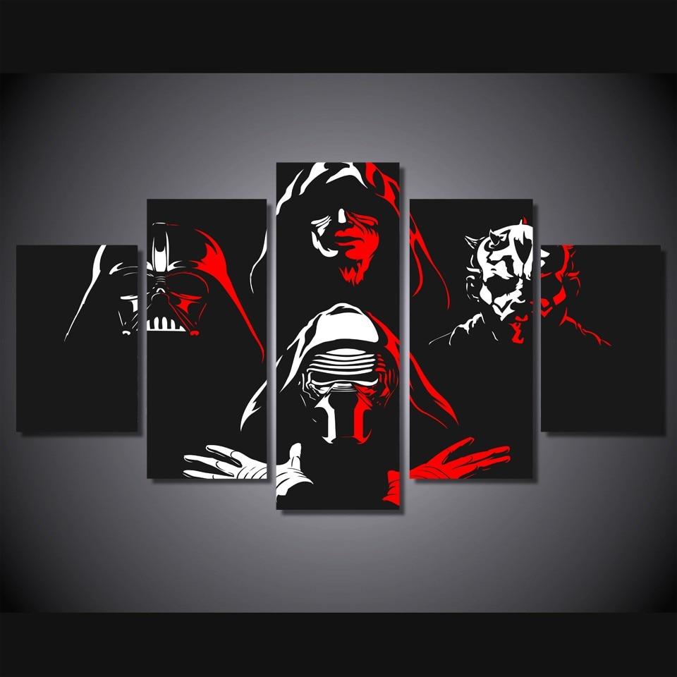5 Teile/satz Gerahmte HD Gedruckt Star Wars Darth Maul Bild ...