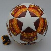 18 19 League Soccer Ball Red Madrid 19 Final Balls PU high grade seamless paste skin Blue Match football ball Size 5