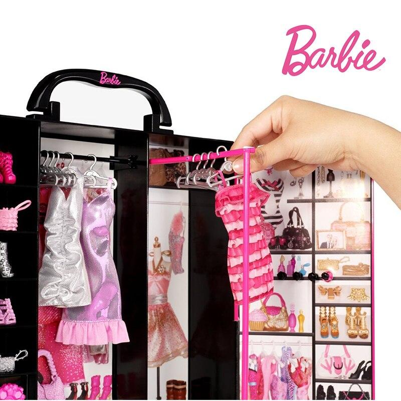 ตุ๊กตาบาร์บี้เดิม Ultimate Fantasy ตู้เสื้อผ้าเด็กผู้หญิงของเล่นชุดเสื้อผ้าเครื่องแต่งกายชุดเจ้าหญิงของเล่นของขวัญเด็ก-ใน ตุ๊กตา จาก ของเล่นและงานอดิเรก บน   3