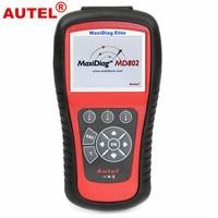 100 Original Autel Code Reader Autel MaxiDiag Elite MD802 For 4 System DS Model Autel MD802