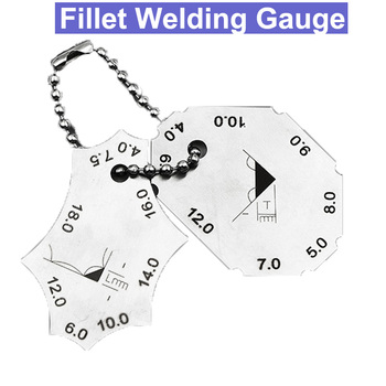 2 sztuk wskaźnik spawalniczy ze stali nierdzewnej Fillet spawanie złącze trójnikowe wskaźnik spawalniczy linijka spawacz inspekcja narzędzie pomiarowe