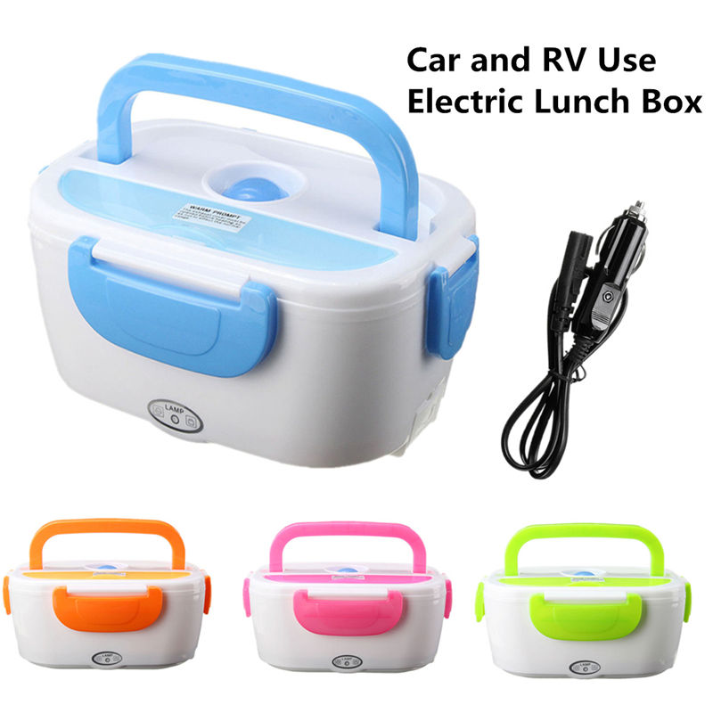 Portable Electric 12V Heated Lunch Box Bento Boxes Auto Car Food Rice Container Warmer For School Office Home DinnerwarePortable Electric 12V Heated Lunch Box Bento Boxes Auto Car Food Rice Container Warmer For School Office Home Dinnerware