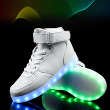 Promotion Let profit discount Wholesale Led Men Shoes Basket Casual Homme Shoes High Glowing Usb Charge Light Up Simulation Sole