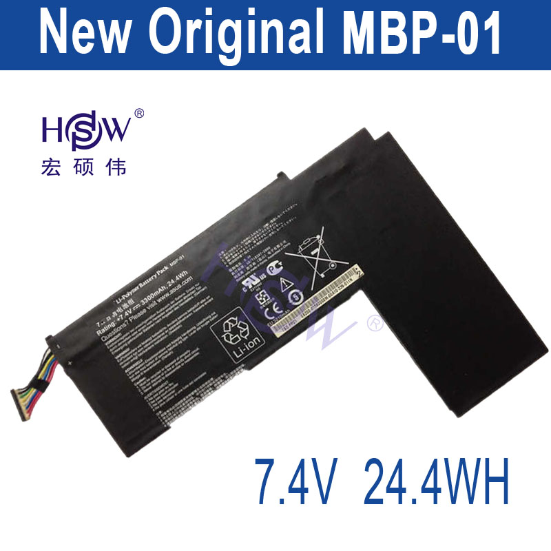 HSW 7.4V 3300mah/24.4Wh  MBP-01 Laptop Battery FOR Asus TBD PP21 Series bateria akku a975got tbd b a975got tba ch a975got tbd ch touch pad