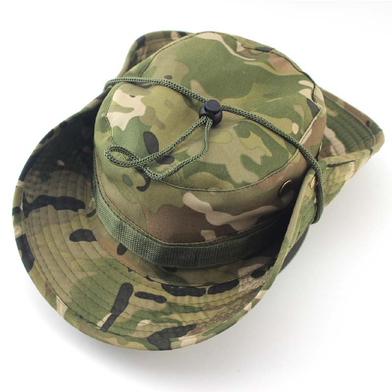 Outdoor Bucket Hats Mens Jungle Military Camouflage Bob Camo Bonnie Hat Camping Barbecue Cotton Mountain Climbing Fishing Caps (2)
