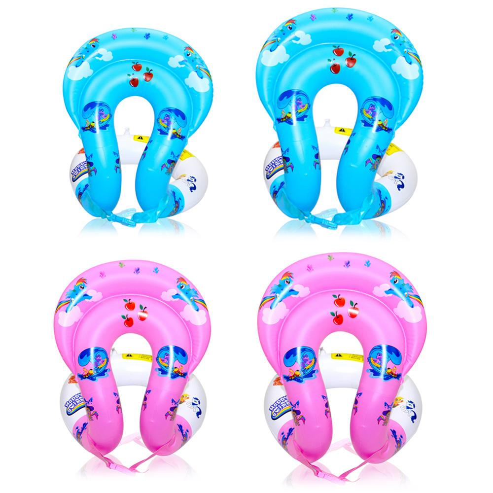 Summer Kids Swimming Float PVC Inflatable Swim Seat Safety Water Toy Outdoor Funny Water Play Float Toys For Children Kids Gifts
