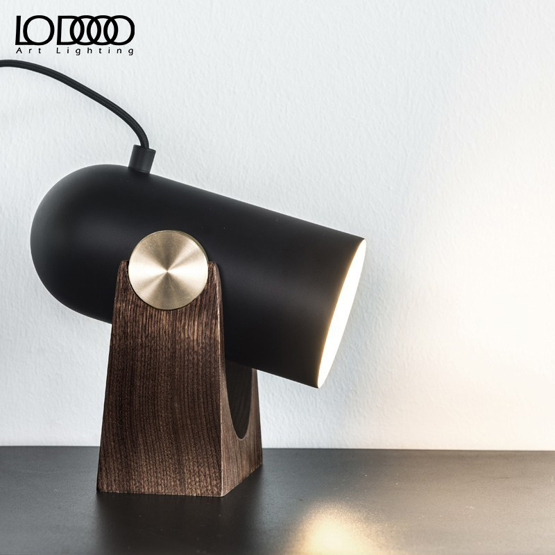 LODOOO Modern Cottage Style Design Wood Table lamps  Living Room Bedroom Decoration  Solid Wooden Table Lamp LED lighting Home bedroom home furniture dresser table with 2 drawers mirror and stool neoclassical style kd packaged wooden carved materials