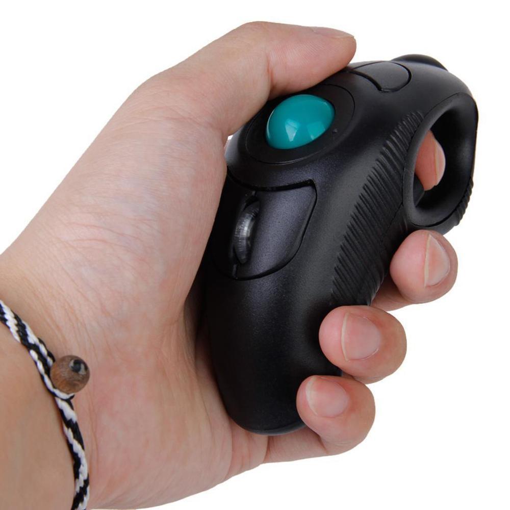 Souris numérique 2.4 GHz sans fil USB souris sans fil de conception ergonomique de poche souris souris doigt en utilisant la boule de piste optique