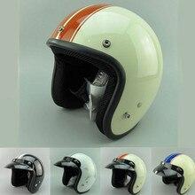 Nuovo adulto aperto del fronte jet moto Vintage moto rcycle caschi moto rbike casco retro casco dello scooter 3/4 mezzo casco DOT casque S M L XL