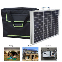 50W Folding Suitcase Portable Solar Panel 12V Battery Power With controller Camp
