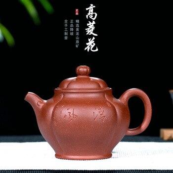 Wholesale Customization First-hand Source of Raw Mine Sloping Mud Hexagonal Palace Lamp Pot Handmade Teapot Factory