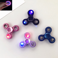 2017 Fidget Toy Fidget Spinner Led Light Up Hand Spinner Metal LED Flash Light Hand Finger