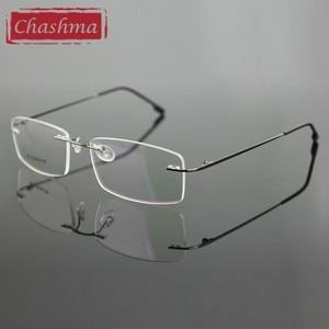 Image 1 - Chashma Rimless Titanium bardzo lekka okulary dla osób z krótkowzrocznością ramki optyczne okulary dla mężczyzn