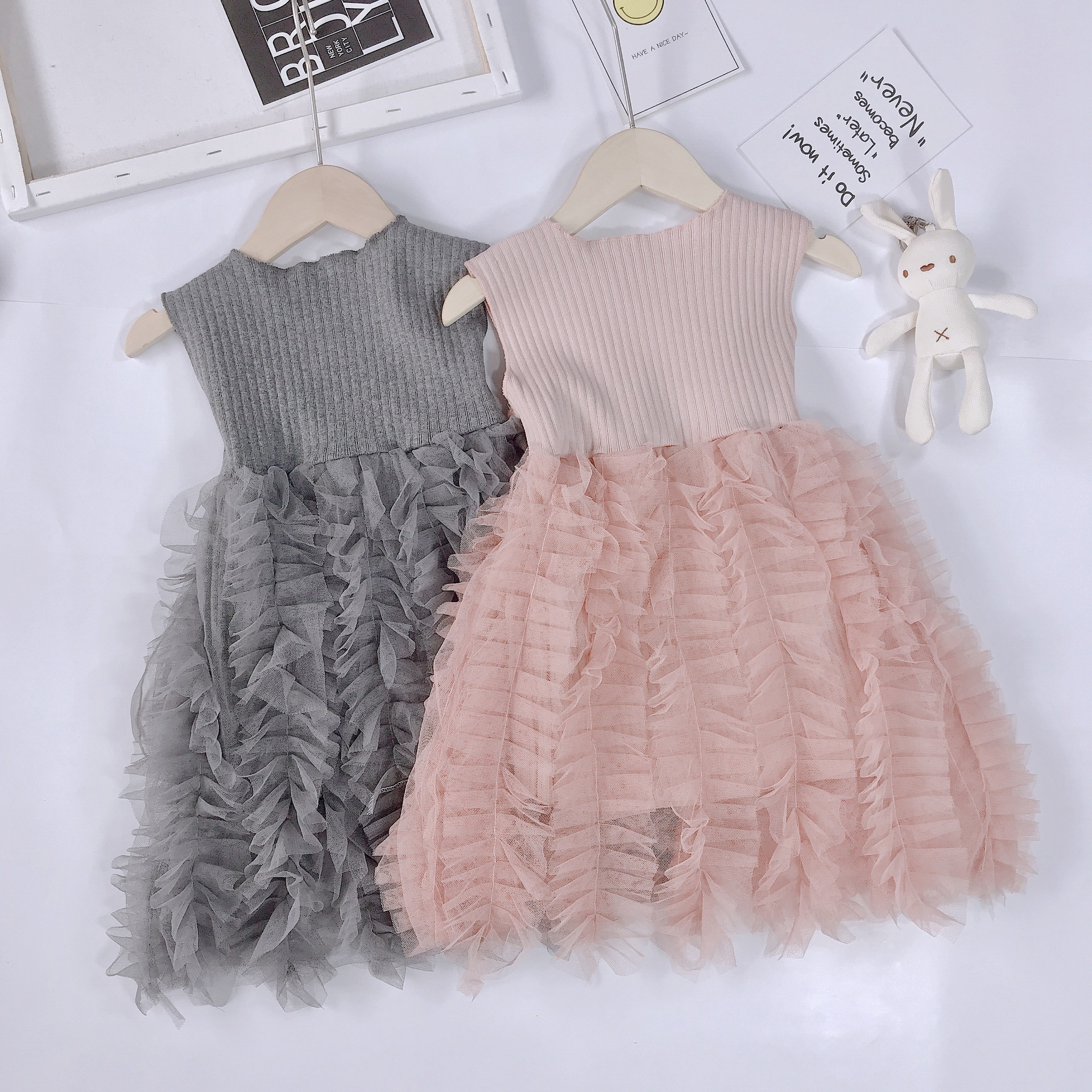 Girls dress princess dress mesh dress(China)