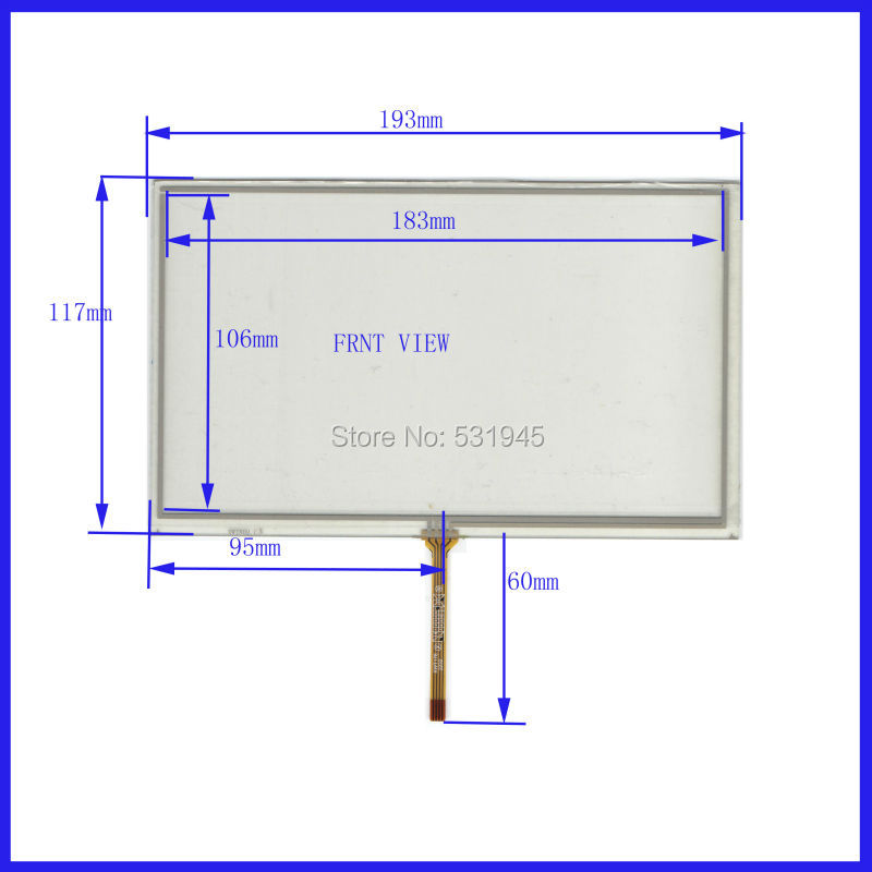 New 8 Inch Touch Screen 193mm 117mm For 8 GPS GLASS 193 117 For Tble Compatible