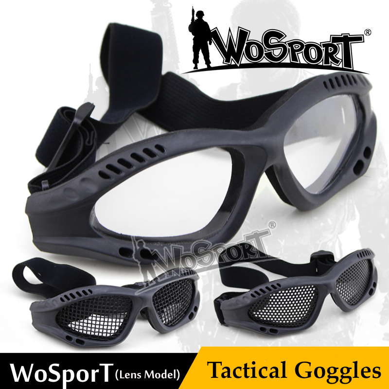 WoSporT Tactical Eye Protective Goggle With Lens For Airsoft Shooting Cycling Riding CS War Game Safety Durable Eyewear Glasses