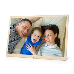 15.4 inch Metal LCD Digital Photo Frame HD 1280x800 Electronic Album USB Digital Picture Music Video Player Calendar Clock