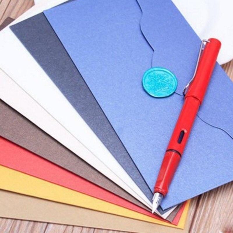 1 Pcs European Vintage Pearly Lustre Paper Envelopes Kawaii School Supplies Envelope For Wedding Business Letter Invitation