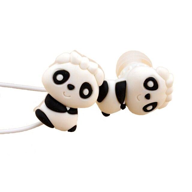 Cute panda orso cartone animato animale auricolari in ear