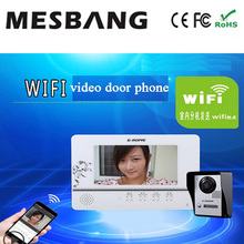 hot wifi video door phone intercom with APP remotely control and inner monitor  free shipping