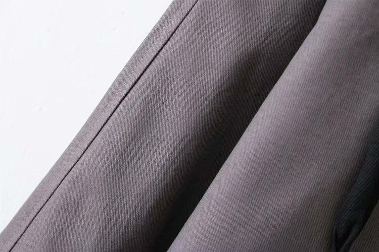 De Mode brown Vêtements caramel Trench Automne 1805 Casual T51 Femmes Taille vent Color Pour Survêtement Manteaux 4xl Coupe Noir Plus BedCorxW