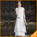 Elegant retro dress fairy Fan Zen tea Chinese antiquity Slim improved cheongsam dress   #0409