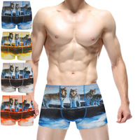 2017 Mens Boxer Shorts Digital Printing Animal Printed Fashion Sexy Male Cotton Soft Funny Boxers Underpants