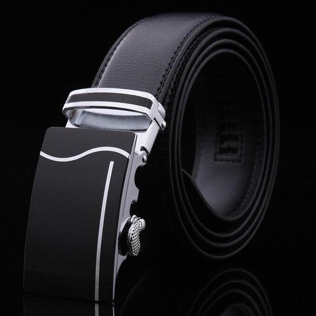 Belt 2017 Hot Fashion Cowhide Leather men belt Designer Luxury Famous High quality Automatic buckle men Belts for men