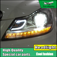 Car Styling LED Head Lamp For Benz W204 Headlights 2011 2013 C180 C200 C260 Led Headlight