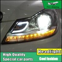 Car Styling LED Head Lamp For Benz W204 Headlights 2011 2013 C180 C200 C260 Led Headlight