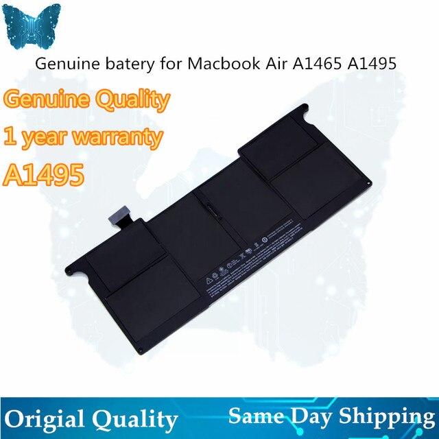 GIAUSA אמיתי A1406 A1495 סוללה עבור macbook אוויר 11inch A1465 סוללה 7.6V 38.75Wh אמצע 2012 2013 מוקדם 2014 A1370 mid 2011 M