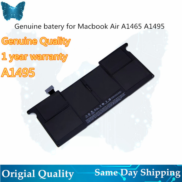GIAUSA Genuine  A1406 A1495 Battery for macbook Air 11inch A1465 battery 7.6V 38.75Wh Mid 2012 2013 Early 2014 A1370 Mid 2011 M