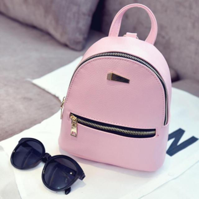Women Backpack Small Size Black PU Leather Women s Backpacks Fashion School  Girls Bags Female Back Pack 1b6dd1aa48cd6
