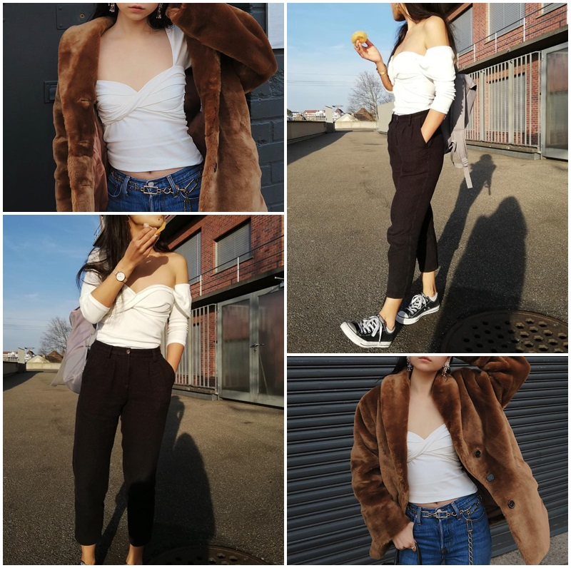 Simplee Sexy cotton sweater women Square collor twist solid female pullover tops Casual solid ladies slim soft knitted jumper