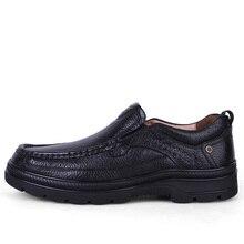 Марка Ручной Работы Из Натуральной кожи повседневная Обувь Мужчины удобные Патент теплые Ботинки моды Классические Оксфорд Обувь плюс размер 38-47