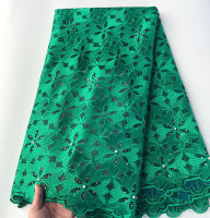 High Quality Big Floral Solid French Lace Guipure Embroidered African Tulle Fabric Soft Skin Healthy 5